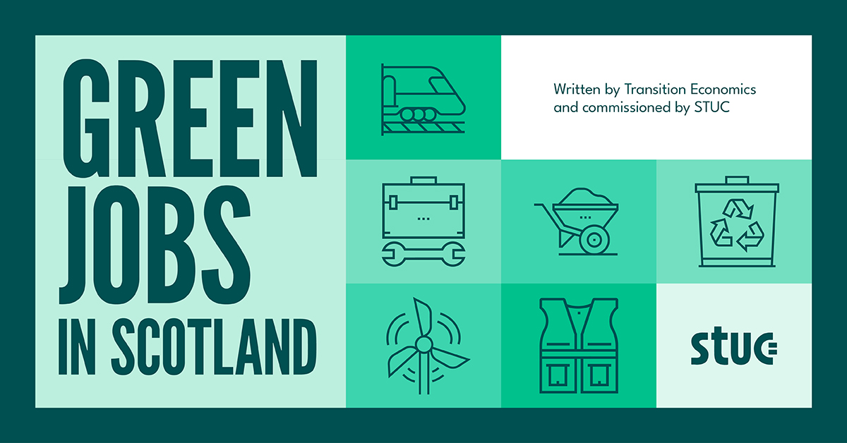STUC Green Jobs Report cover page